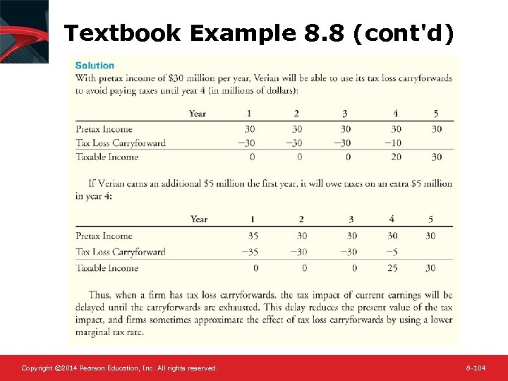 Textbook Example 8. 8 (cont'd) Copyright © 2014 Pearson Education, Inc. All rights reserved.