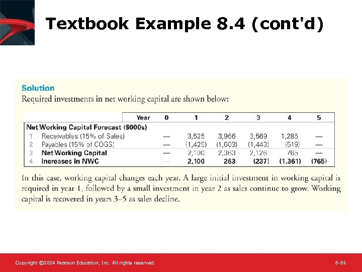 Textbook Example 8. 4 (cont'd) Copyright © 2014 Pearson Education, Inc. All rights reserved.