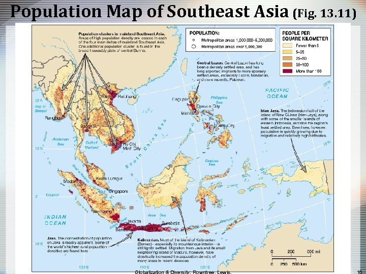 Population Map of Southeast Asia (Fig. 13. 11)
