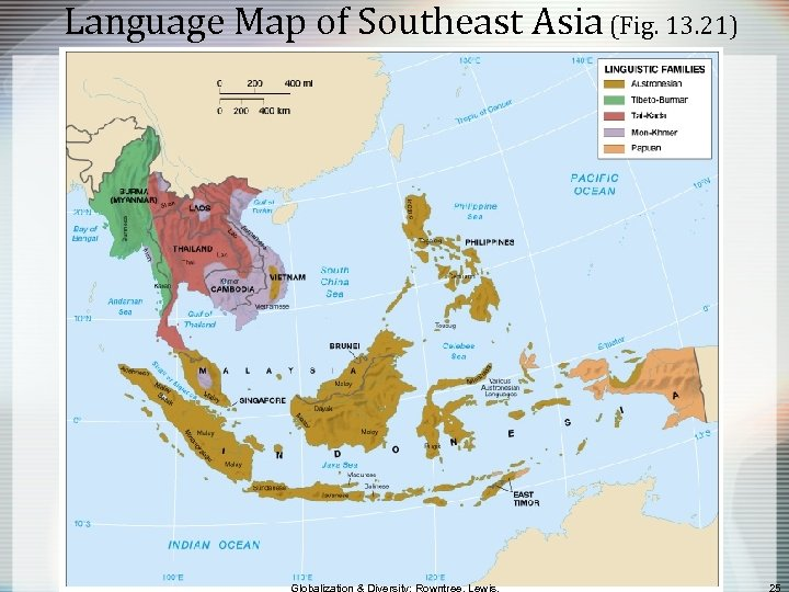Language Map of Southeast Asia (Fig. 13. 21)