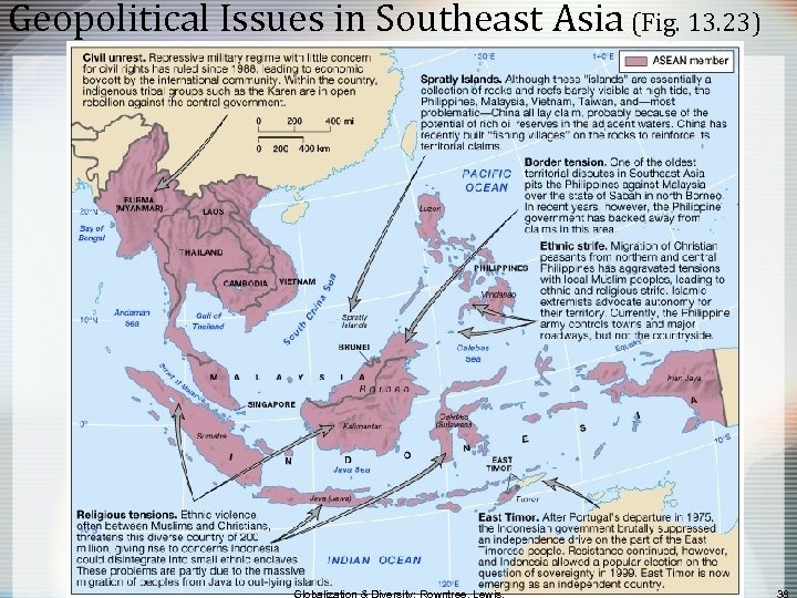 Geopolitical Issues in Southeast Asia (Fig. 13. 23)