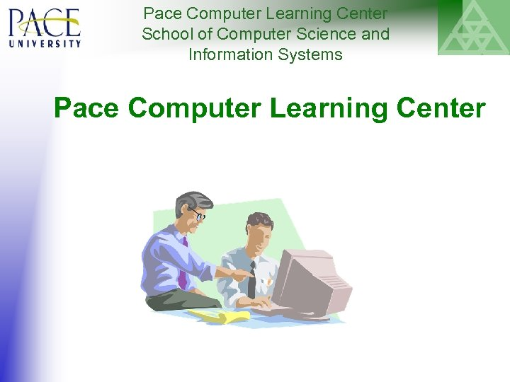 Pace Computer Learning Center School of Computer Science and Information Systems Pace Computer Learning