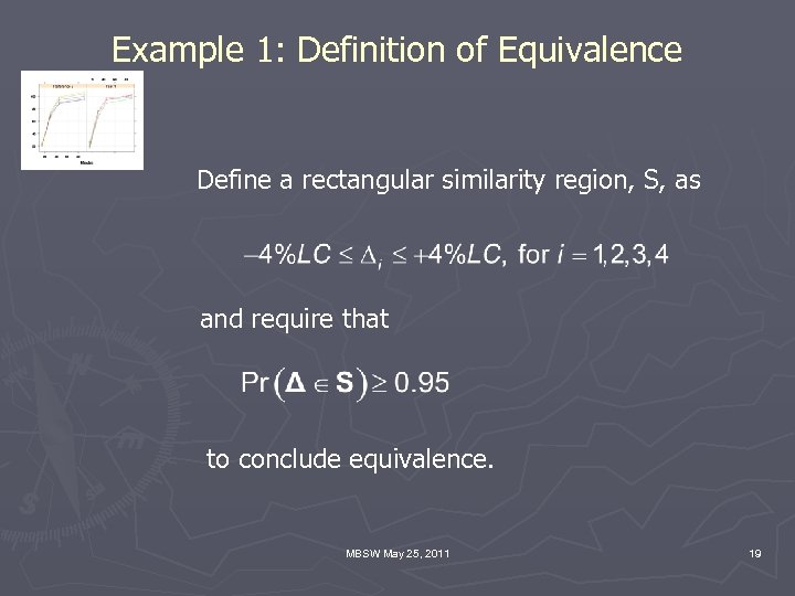 Example 1: Definition of Equivalence Define a rectangular similarity region, S, as and require