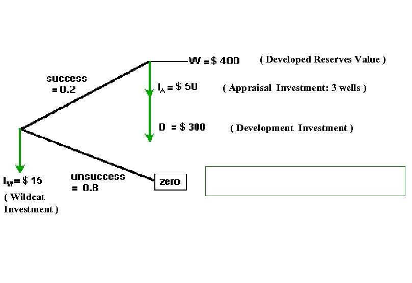 ( Developed Reserves Value ) ( Appraisal Investment: 3 wells ) ( Development Investment
