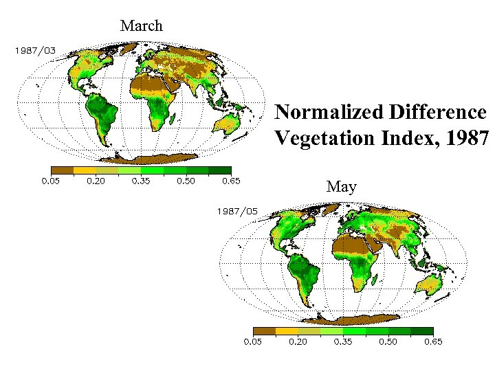 March Normalized Difference Vegetation Index, 1987 May