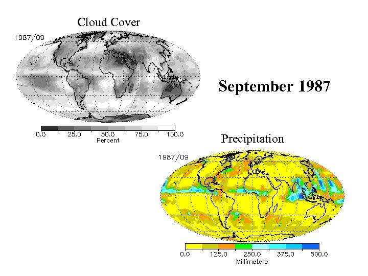 Cloud Cover September 1987 Precipitation