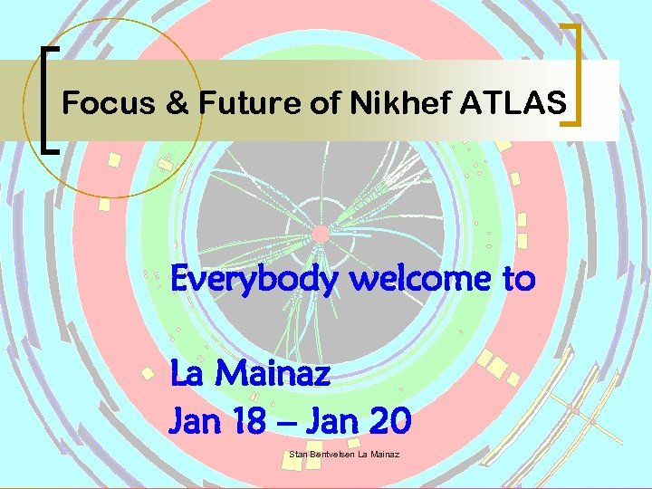 Focus & Future of Nikhef ATLAS Everybody welcome to La Mainaz Jan 18 –