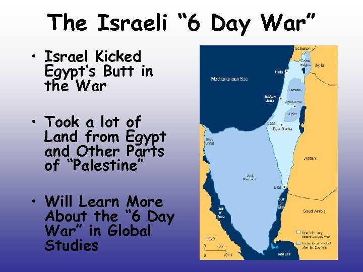 "The Israeli "" 6 Day War"" • Israel Kicked Egypt's Butt in the War"