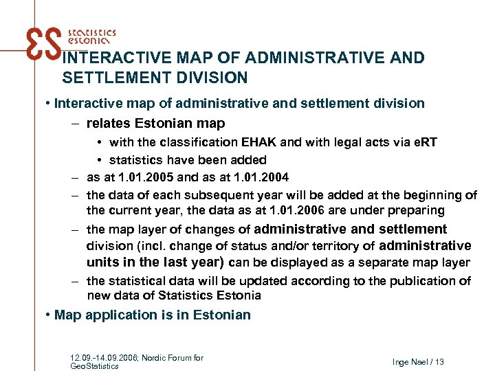 INTERACTIVE MAP OF ADMINISTRATIVE AND SETTLEMENT DIVISION • Interactive map of administrative and settlement