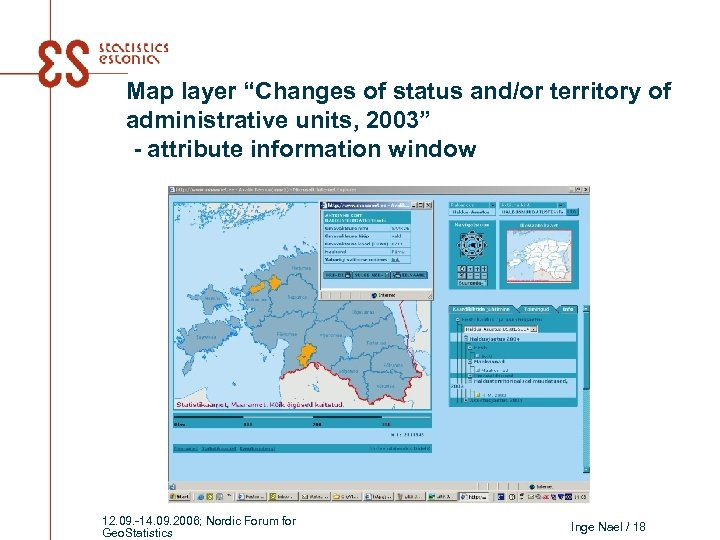 """Map layer """"Changes of status and/or territory of administrative units, 2003"""" - attribute information"""