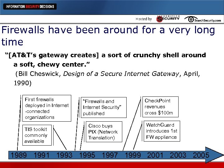 "Firewalls have been around for a very long time ""[AT&T's gateway creates] a sort"