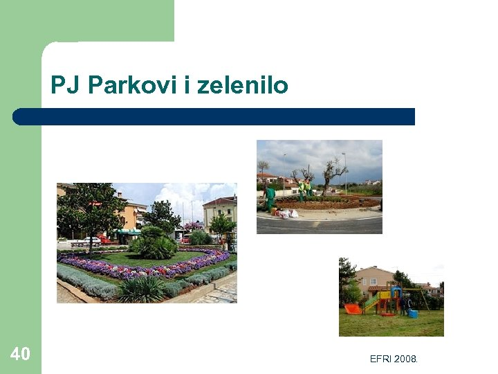 PJ Parkovi i zelenilo 40 EFRI 2008.