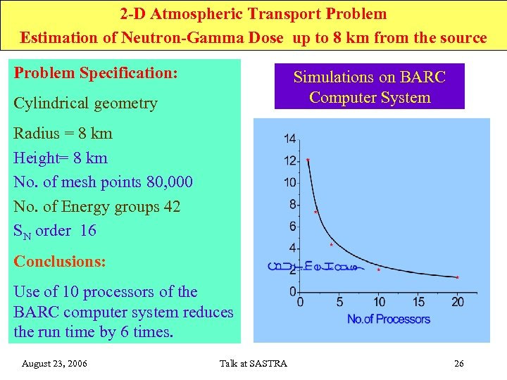 2 -D Atmospheric Transport Problem Estimation of Neutron-Gamma Dose up to 8 km from