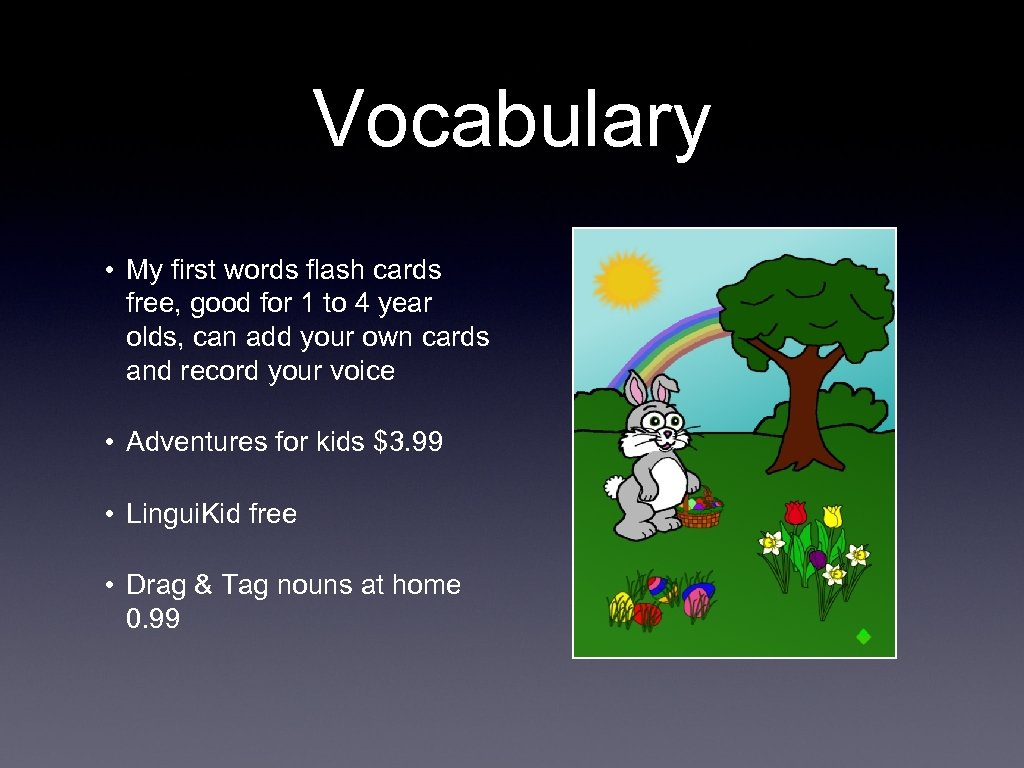 Vocabulary • My first words flash cards free, good for 1 to 4 year
