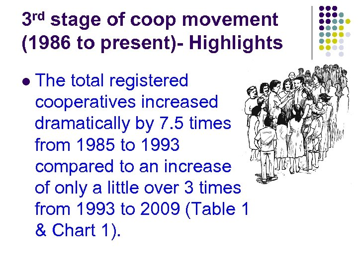 3 rd stage of coop movement (1986 to present)- Highlights l The total registered