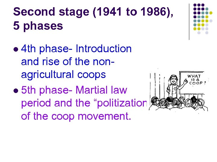 Second stage (1941 to 1986), 5 phases 4 th phase- Introduction and rise of