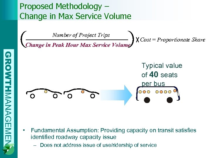 Proposed Methodology – Change in Max Service Volume Number of Project Trips Change in
