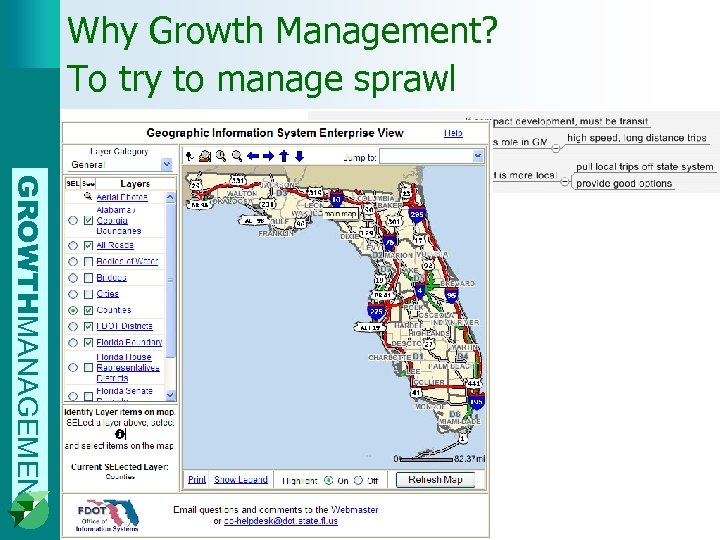 Why Growth Management? To try to manage sprawl GROWTHMANAGEMENT