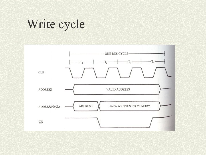 Write cycle