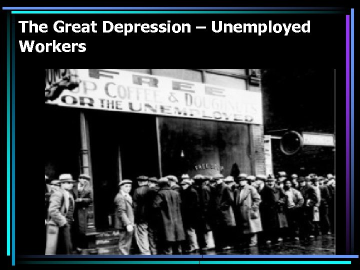 The Great Depression – Unemployed Workers