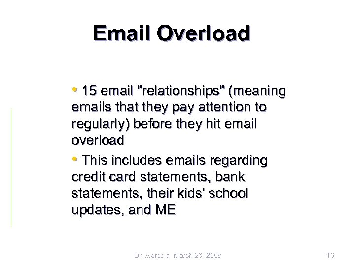 Email Overload • 15 email