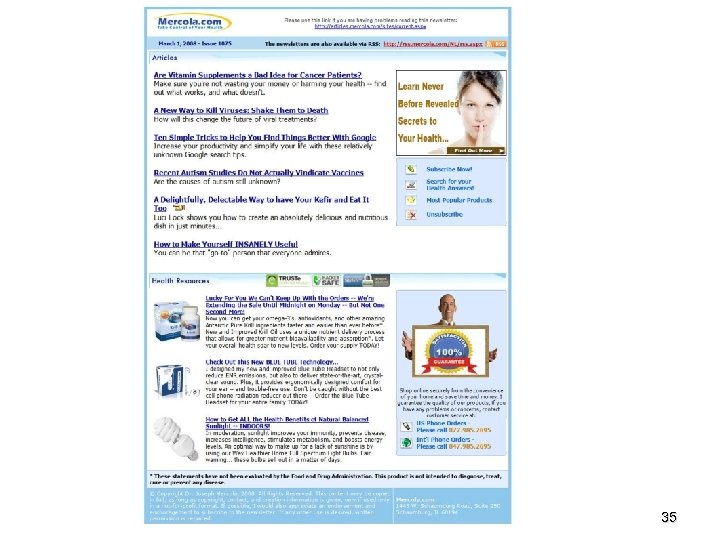 Email Newsletter Dr. Mercola March 26, 2008 35