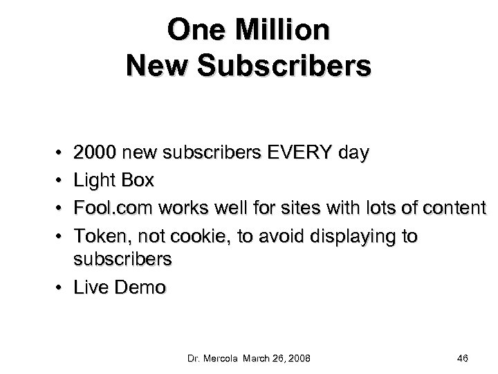 One Million New Subscribers • • 2000 new subscribers EVERY day Light Box Fool.