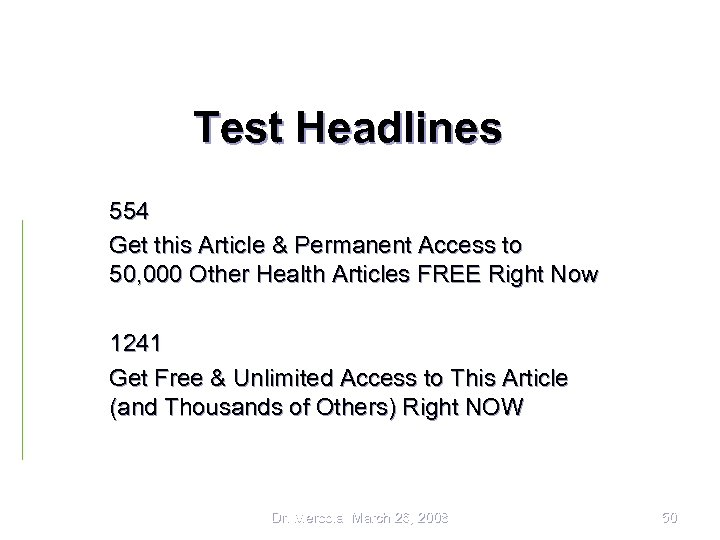 Test Headlines 554 Get this Article & Permanent Access to 50, 000 Other Health