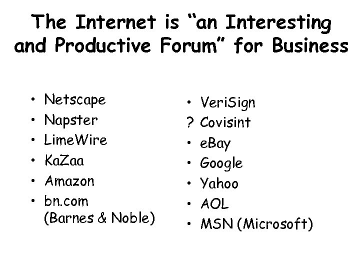 """The Internet is """"an Interesting and Productive Forum"""" for Business • • • Netscape"""