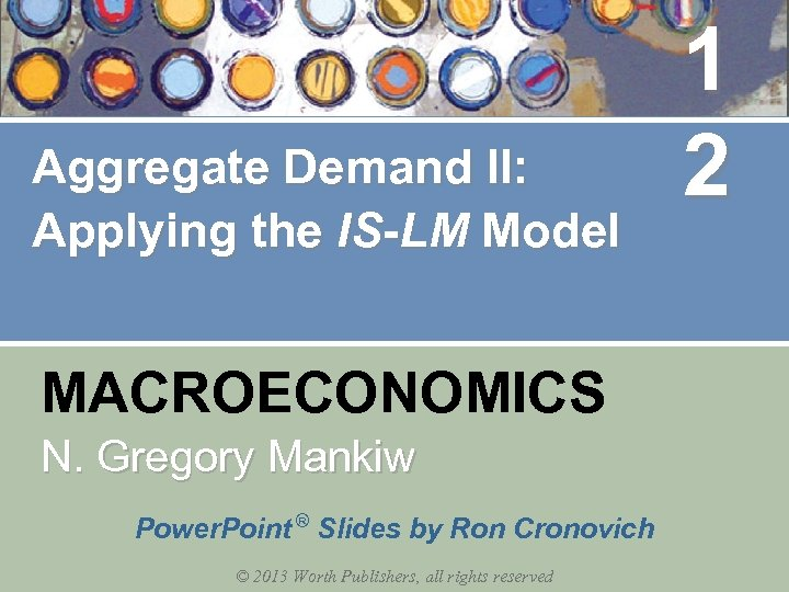 Aggregate Demand II: Applying the IS-LM Model MACROECONOMICS N. Gregory Mankiw Power. Point ®