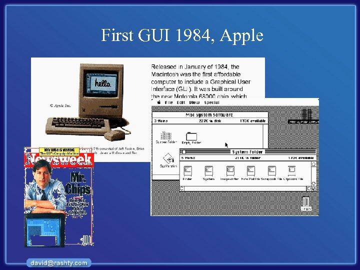 First GUI 1984, Apple