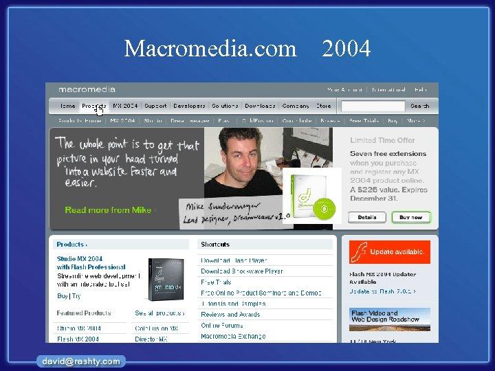 Macromedia. com 2004