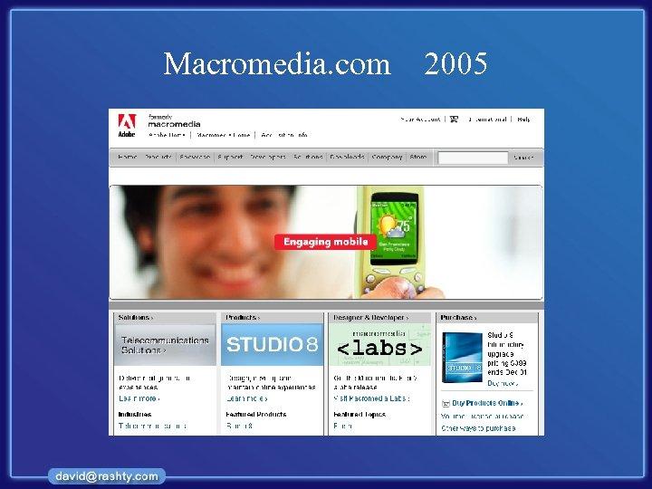 Macromedia. com 2005