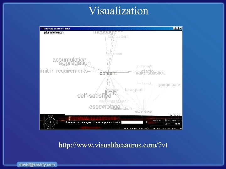 Visualization http: //www. visualthesaurus. com/? vt