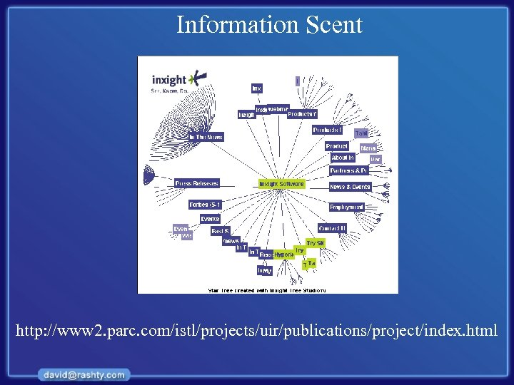 Information Scent http: //www 2. parc. com/istl/projects/uir/publications/project/index. html