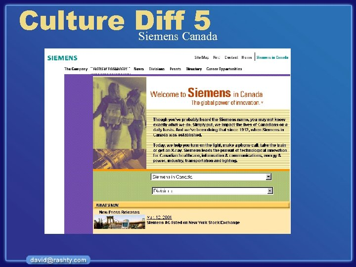 Culture Diff. Canada 5 Siemens