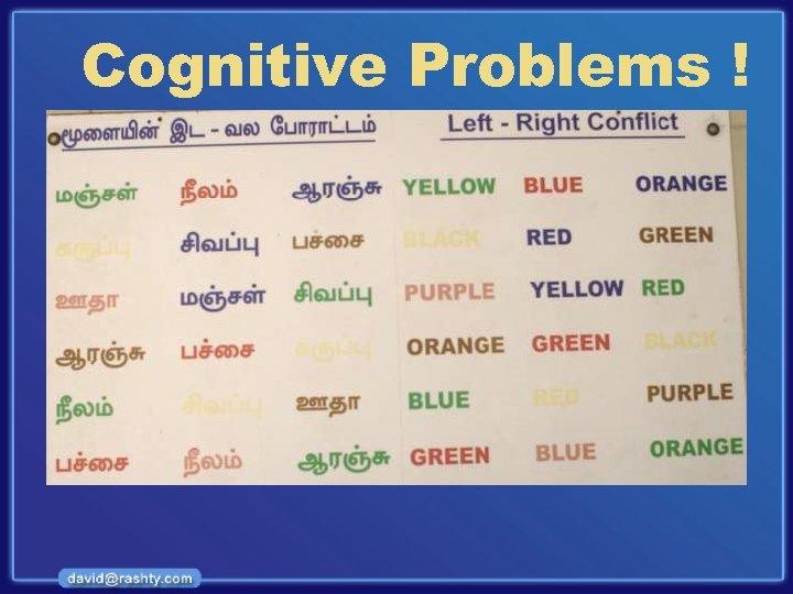 Cognitive Problems !