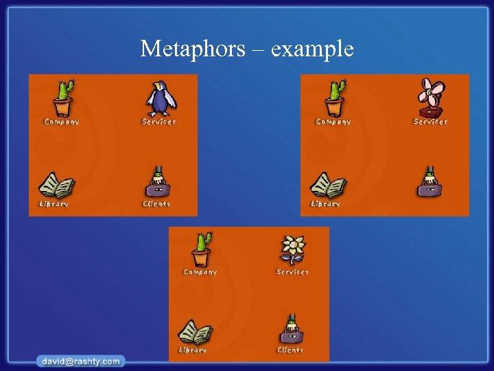Metaphors – example