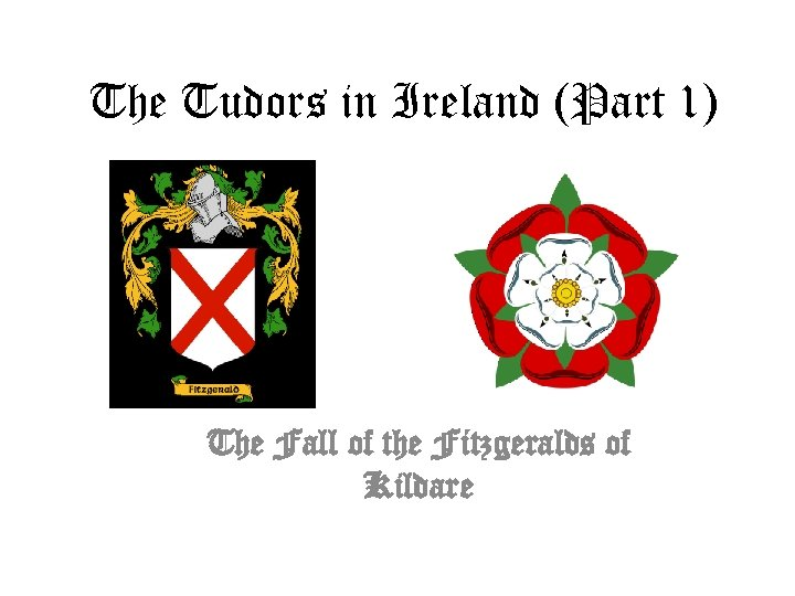 The Tudors in Ireland (Part 1) The Fall of the Fitzgeralds of Kildare