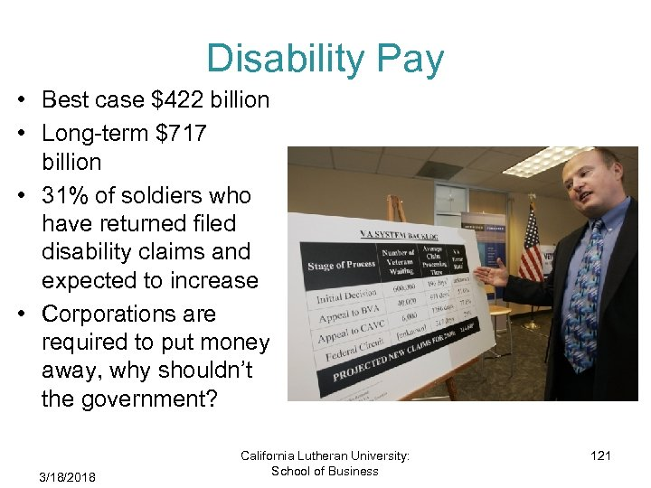 Disability Pay • Best case $422 billion • Long-term $717 billion • 31% of