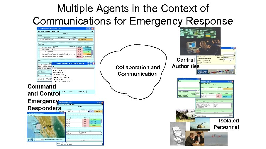 Multiple Agents in the Context of Communications for Emergency Response Collaboration and Communication Central