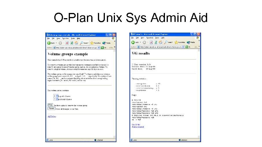 O-Plan Unix Sys Admin Aid