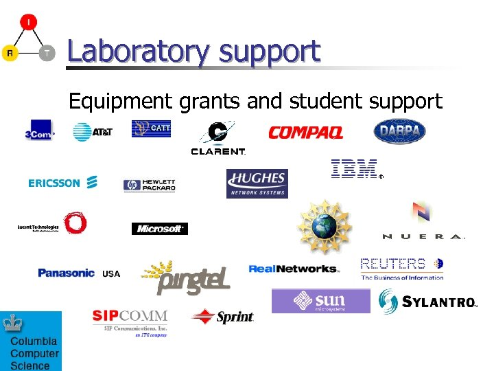 Laboratory support Equipment grants and student support