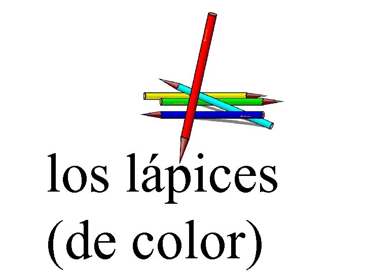 los lápices (de color)