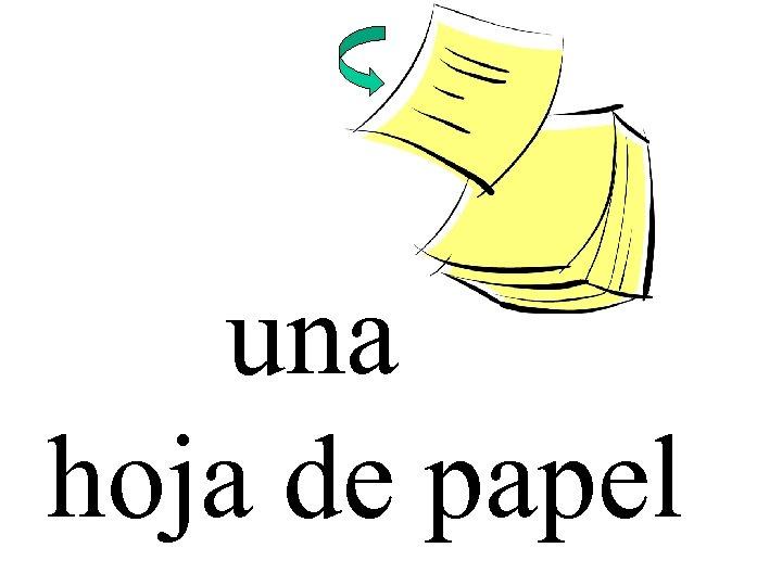 una hoja de papel