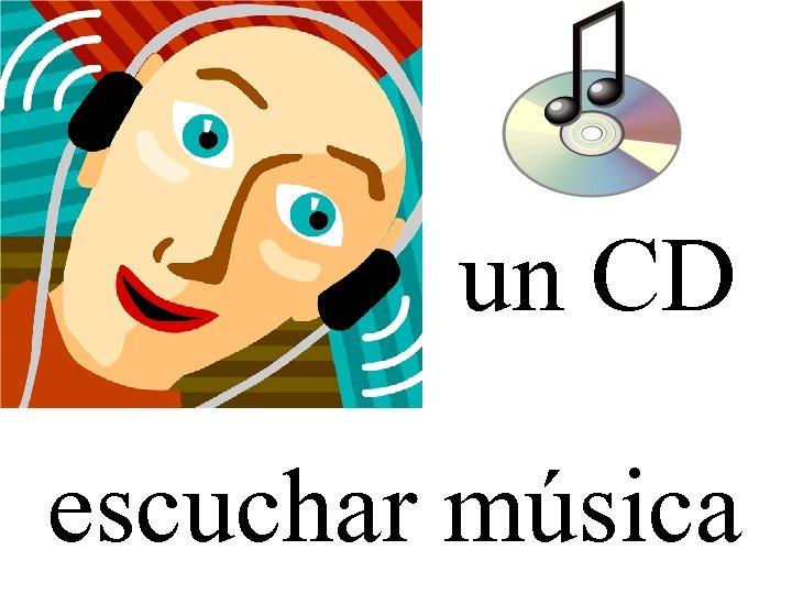 un CD escuchar música
