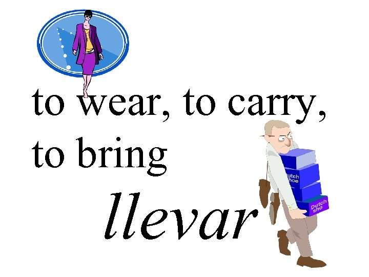 to wear, to carry, to bring llevar