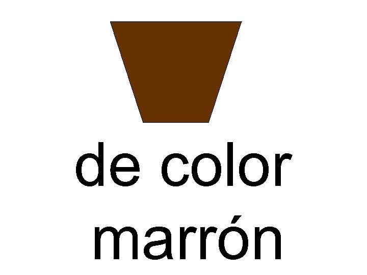 de color marrón