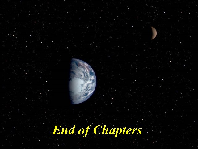 End of Chapters