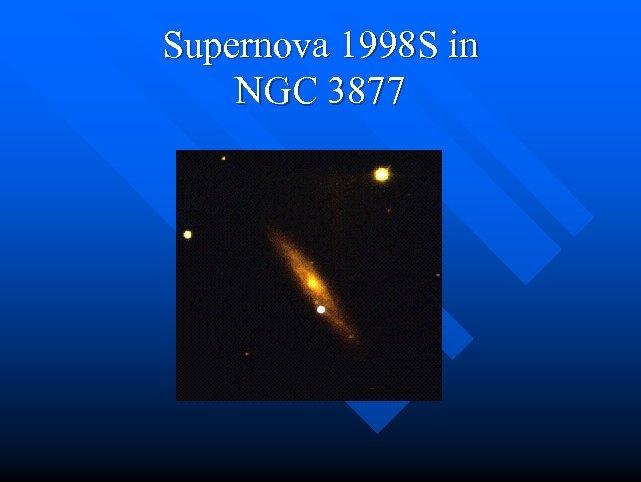 Supernova 1998 S in NGC 3877